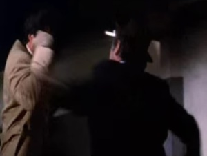 Rocky and Paulie fighting