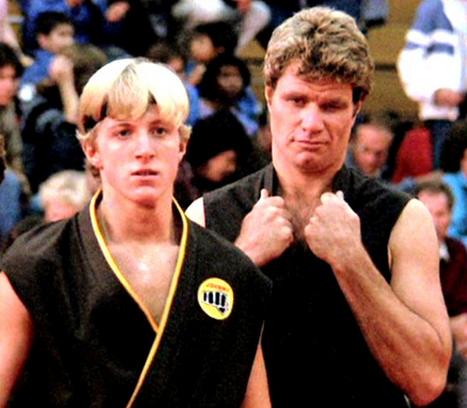 Karate Kid Daniel Goes To Karate School